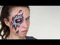 Tutorial zum Roboter- / Terminator-Make-up - Makeup Tutorial African American Terminator Makeup, Terminator Costume, Gothic Makeup, Fantasy Makeup, Fairy Makeup, Mermaid Makeup, Robot Makeup, Sfx Makeup, Makeup Art