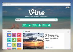Today, we're excited to introduce a brand-new version of vine.co, which adds a bunch of new features that will help you find and discover Vine videos on the web.