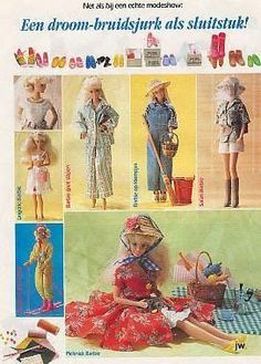 Barbie patterns {NOT in English} barbiewatwordtbetvandaag - popxena @ - Picasa Web Albums.  This particular set of patterns may prove difficult to work with, since they're printed on *top* of one another, with many pattern pieces on the pages.