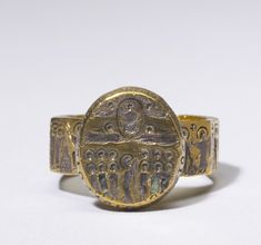 Marriage Ring with Scenes from the Life of Christ, Byzantine 6th-7th century. The Walters Art Museum.