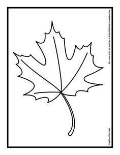 Free leaf printable.
