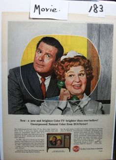 """Movies ...-183   """"Shirley Booth * Don Defore for RCA Victor Television""""  Ad  - 1964"""