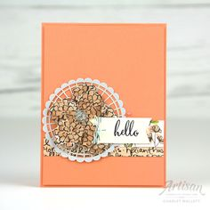 Hello card using the Make a Difference stamp set and Share What You Love promotion - Charlet Mallett, Stampin' Up! Artisan Design Team 2018