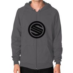 Shortyyguy Shirt Zip Hoodie (on man) Shirt