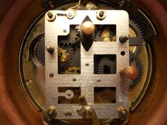 Old mechanical COPPER CLOCK in detail