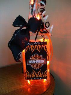Harley wine | Harley Davidon light, wine Bottle light, Jack Daniels ... | Motorcycle