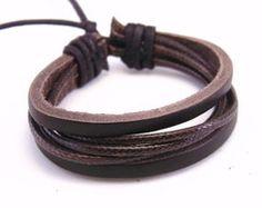 Bracelete Pulseira de Couro Masculina