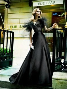 Vestido negro de Elie Saab. #black #dress.