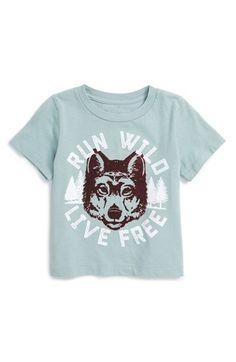 Peek 'Run Wild' Graphic Cotton T-Shirt (Baby Boys) available at Baby Boy Tops, Baby Boy Shirts, Boys Shirts, Baby Boy Outfits, T Shirts For Women, Baby Boys, Diy Shirt Printing, Printed Shirts, Designer Kids Clothes