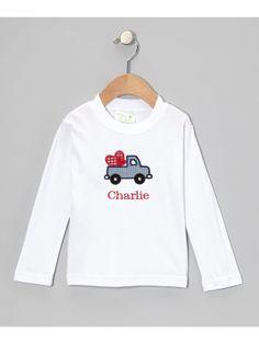 Valentine Truck Applique T Shirt