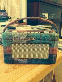 So much cool. Harris Tweed covered Roberts radio.