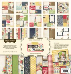 Simple Stories | Summer Fresh | 12x12 Collection Kit