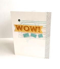 Card from Rich Jutkins :: Confessions of a Stamping Addict Congratulations card from Rich Jutkins Stampin' Up