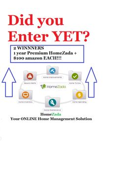 2 WINNERS!  $320 @HomeZada + AMAZON!  http://stillblondeafteralltheseyears.com/2014/05/homezada-home-management-solution/  ENDS 6-5