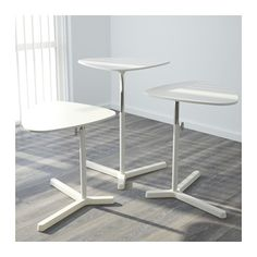 IKEA SVARTASEN Bed-side-table (breakfast tray) or... Laptop Stand. 60x50cm WHITE Product dimensions:  Width: 60 cm  Depth: 50 cm  Min. height: 47 cm  Max. height: 77 cm  Max. load: 6 kg