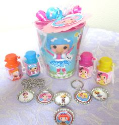 Lalaloopsy Birthday Party Favors Souvenir Cups Goodie Bags Loot Bags #Lalaloopsy #BirthdayChild