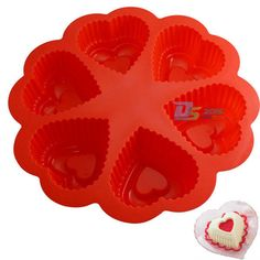 Heart Shaped Silicone Mold For Cake Chocolate Decorating Candy Pastry Mould Pan #Unbranded