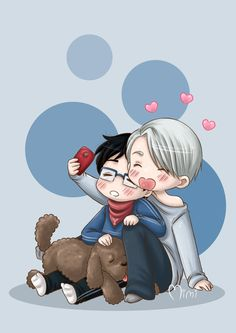 Katsuki Yuuri x Victor #yuurion ice. OMG this foto is SO CUTE Im serieusly dying inside right now XD