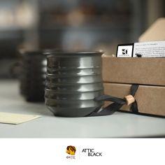 ATTIC BLACK features iconic, handmade pottery showcasing the Grecian heritage & culture. Handmade Pottery, Attic, Greek, Ceramics, Crafty, Mugs, Studio, Tableware, Black