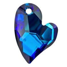 6261 SWAROVSKI DEVOTED 2 U HEART CRYSTAL BERMUDA BLUE 36MM (1)