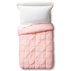 Pinch Pleat Comforter Set Toddler Light Pink 2pc - Pillowfort™