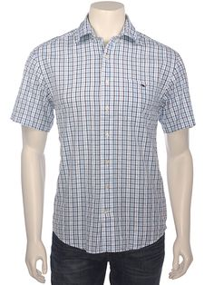Vineyard Vines Mens Galley Check Tucker Short Sleeve Button Down Shirt