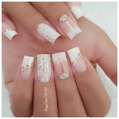 Nail art Christmas - the festive spirit on the nails. Over 70 creative ideas and tutorials - My Nails Cute Acrylic Nails, Acrylic Nail Designs, Nail Art Designs, French Manicure Nails, Manicures, Manicure Pedicure, Pedicure Colors, Classy Nails, Stylish Nails
