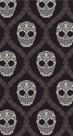➳➳➳☮ American Hippie Art - Pattern Design Wallpaper. . Skulls