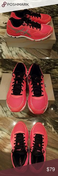 Asics Gel Running Shoes in Diva Pink Silver Asics Gel Cushioning System in Diva Pink Silver and Black   New in Box! Bundle with other NWT Nike's or Nike Running Gear!:) Asics Shoes Athletic Shoes