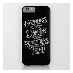 """Harry Potter """"Happiness Can Be Found"""" Phone Case ($35)   Harry Potter... ❤ liked on Polyvore featuring phone cases, phone, harry potter, hogwarts and hp"""