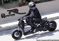 """Rucksters Customs™ """"Rox Riot,"""" the first survival streetfighter Honda Ruckus."""