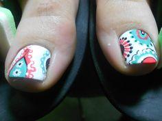 paisley nail art by misty