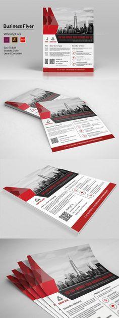 Business Flyer Template - V369. Flyer Templates. $6.00