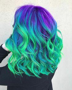 Likes, 22 Comments – Hair styles⚔Stylists✂️Color ( - Haarfarben Ideen Cute Hair Colors, Pretty Hair Color, Beautiful Hair Color, Hair Dye Colors, Vivid Hair Color, Bright Hair Colors, Twisted Hair, Coloured Hair, Dye My Hair