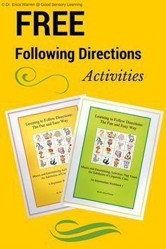 Top educators bringing you the best resources for your classroom every day and always free! Auditory Processing Activities, Speech Therapy Activities, Speech Language Pathology, Language Activities, Speech And Language, Adhd Activities, Educational Activities, Listening And Following Directions, Following Directions Activities