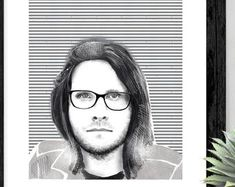 KasiaGach w Etsy Round Glass, Glasses, Music, Prints, Etsy, Author, Eyewear, Eyeglasses, Muziek
