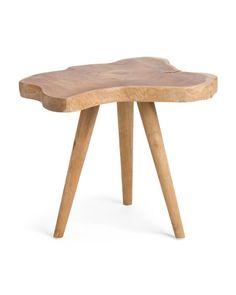 Teak+Wood+Side+Table