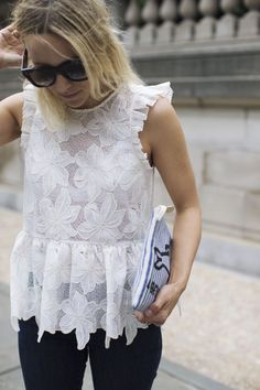 Image Via: Damsel In Dior in the Adoria Ruffled Top #Anthropologie