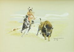 Cuttin' Out a Choice Cow by Byron Wolfe - The Eddie Basha Collection