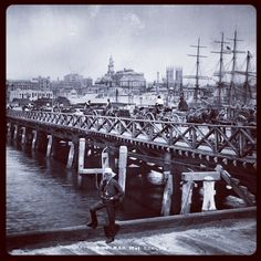 Pyrmont Bridge (Darling Harbour) Sydney ca. 1900. History NSW. v@e