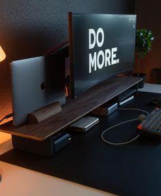Computer Gaming Room, Computer Desk Setup, Workspace Desk, Gaming Room Setup, Home Studio Setup, Home Office Setup, Home Office Design, Desktop Design, Cable Management