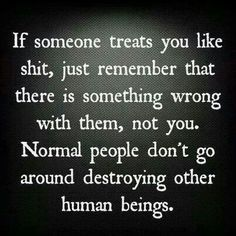 It's getting easier to remember that I didn't do anything wrong because the manipulator keeps on thinking that she can call the shots. No. I won't let you destroy my family because of some false reality you created in your deranged little mind.