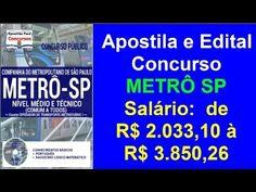 Apostila Edital Concurso METRÔ SP 2016 Nível Médio e Técnico Comum a Todos