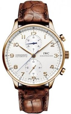 Mens IWC Watch Portuguese Rose Gold Chronograph IW371480