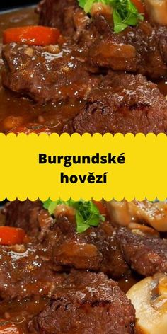 Slovak Recipes, Meat Recipes, Food And Drink, Beef, Halloween, Chef Recipes, Cooking, Essen, Meat