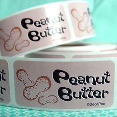 Peanut Butter Bakery Labels