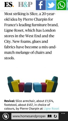 Barbara Chandler's report on Paris Maison 2016 for Homes & Property, LondonEvening Standard Ligne Roset, 20 Years Old, Highlights, Product Launch, Collections, It Is Finished, Homes, Paris, Houses