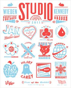 w+k studio's typo graphic Jackpot Card Calendar 2011
