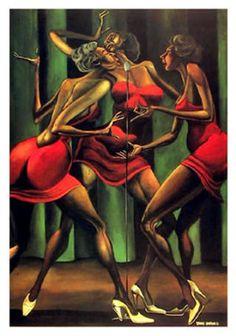 """Singin' Sistahs"" by Ernie Barnes"