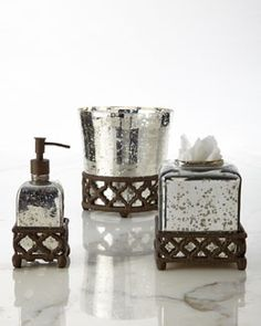 -5PU2 GG Collection Mercury Glass Vanity Accessories